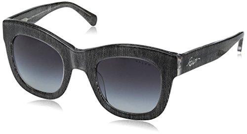 Ralph Lauren Ralph by Damen 0RA5225 16318G 49 Sonnenbrille, Black Denim Crystal/Dkgreygradient, -