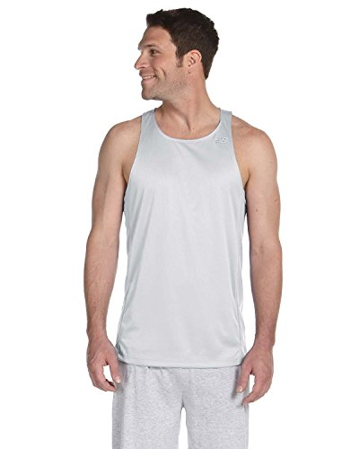 New Balance Mens Tempo Running Singlet white