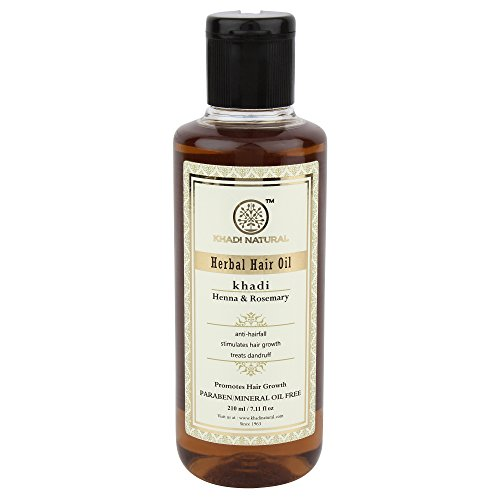 Khadi Natural Rosemary And Henna Hair Oil, 210ml
