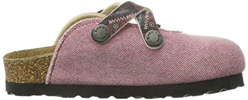 Birki's Dorian, Mules fille Rouge (jeans Shadow Red)
