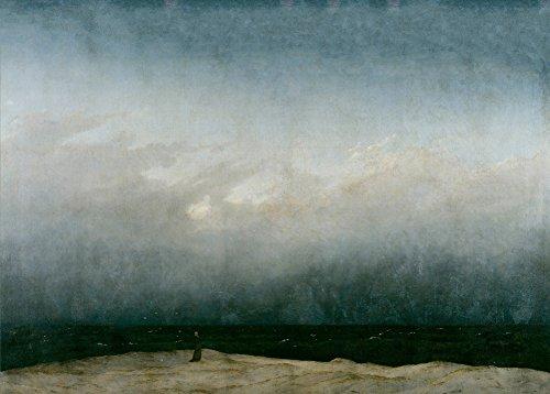 CASPAR DAVID FRIEDRICH DER MÖNCH by the Sea C1808-10250gsm, Hochglanz, A3, vervielfältigtes Poster