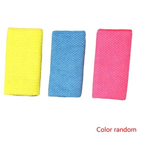 Hotaluyt 3PCS Colore Casuale Addensare Asciughino Bowl in Microfibra Panno di Pulizia Domestica Tovaglia Wash Glass