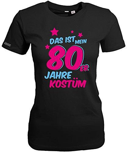 Disco Kostüm Womens - Jayess DAS IST Mein 80er Jahre KOSTÜM - Schwarz - Women T-Shirt by Gr. L
