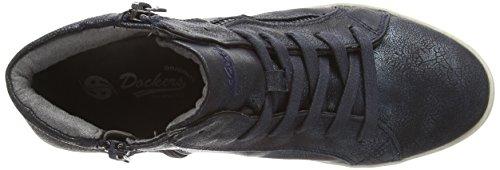 Dockers by Gerli 36AI203, Chaussures hautes femme Noir (Schwarz/Blau 160)