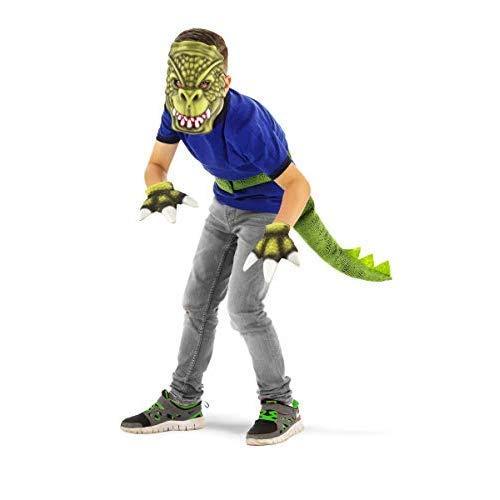 T Rex Kostüm Schwanz - Folat 21907 Dinosaurier-Set, 3 Stück, Kinder Größe, Fits All