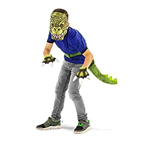 Folat 21907-Vestido de Dinosaurio Set, 3Unidades, tamaño niños, Fits All