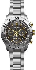 Reloj Seiko SSB057 de cuarzo para hombre con correa de acero inoxidable, color plateado de Seiko