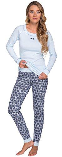 Italian Fashion IF Femme Ensemble de Pyjama Zoja 0223 Bleu