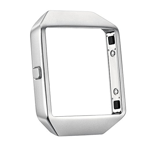 Fitbit Blaze Accessory Band,Large (6.2-8.1 in) with Housing Frame,Kartice Metal Milanese Loop Magnet Stainless Steel Bracelet Strap Bands with Unique Magnet Lock for Fitbit Blaze (Rahmen Silber)