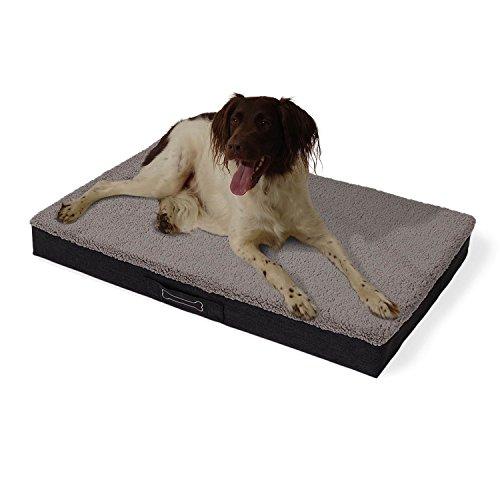 brunolie 'Buddy' Hundebett waschbar, orthopädisch und rutschfest, Hundekissen mit kuscheligem...