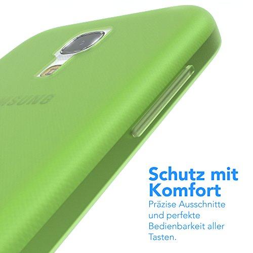 Samsung Galaxy S4 Mini Hülle - EAZY CASE Ultra Slim Cover TPU Handyhülle Matt - dünne Schutzhülle aus Silikon in Grün Matt Grün