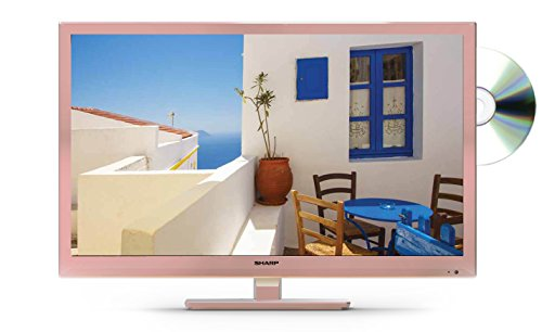 Sharp LC-24DHF4011KR 24-Inch HD Ready LED TV with Freeview HD - Rose Gold