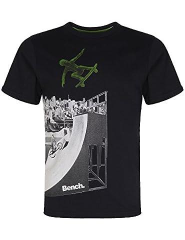 Bench Jungen Sport Pullover T-shirt SKATE RAMP schwarz (Jet Black) 140