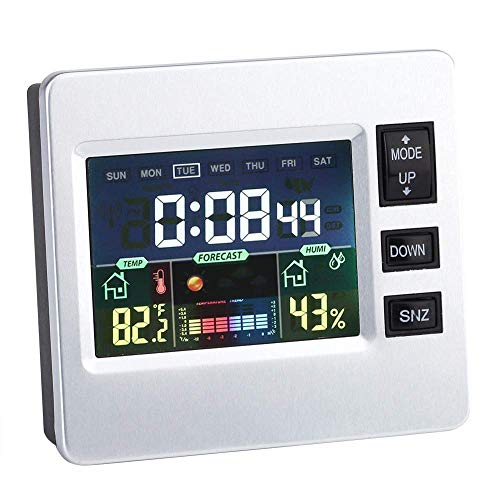 ZUZEN Haushaltsfeuchtigkeitsmonitor, Multifunktions-Digital-Farbdisplay Smart Wecker Geeignet für Home Office (Kalender-buch Monatlich)