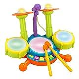 Kinder musikalisches Mikrofon Schlagzeug Kit Instrument toypuzzle Puzzle frühen pädagogischen Spielzeug für Jungen Mädchen