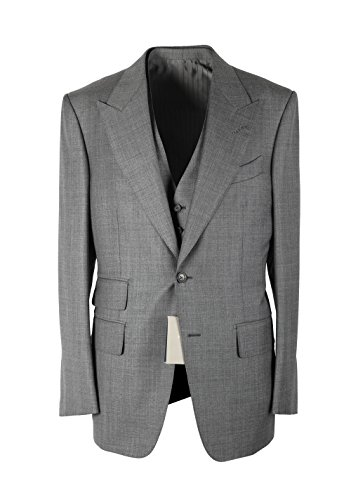 CL - Tom Ford Windsor Gray 3 Piece Suit Size 50 40R U.S. Wool Fit A 24d30d71b3