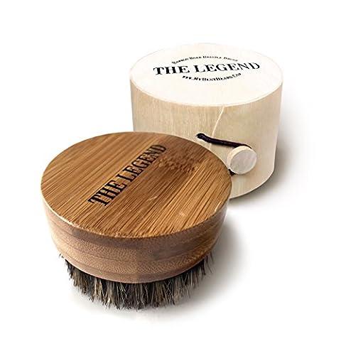 Beard Oil Brush For Men - Soft Boar Bristle Kit