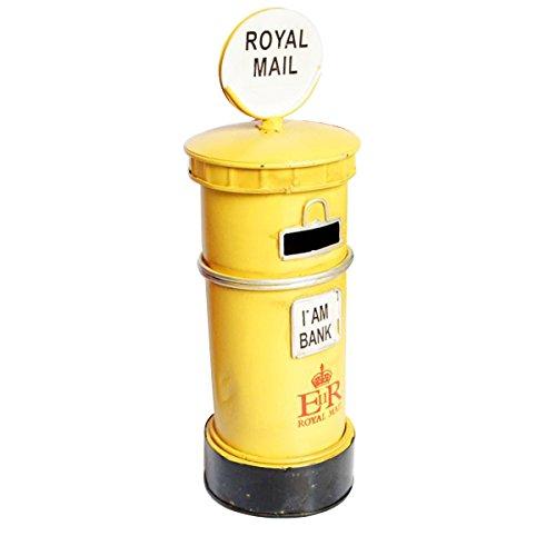 sten Sparschwein Royal Post Box Spartopf Spardose Tischdekoration (gelb) ()