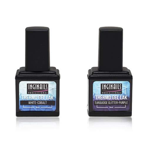 2er Set Hochwertiger farbiger Thermo UV LED Gel Nagellack - 2x9ml