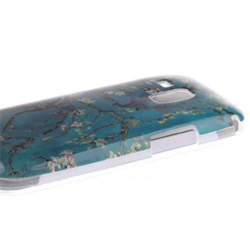 Samsung Galaxy S Duos S7562 S7560 S7560M hülle MCHSHOP Ultra Slim Skin Gel TPU hülle weiche Silicone Silikon Schutzhülle Case für Samsung Galaxy S Duos S7562 S7560 S7560M - 1 Kostenlose Stylus (Löwenz mandel blumen baum mit blauem hintergrund (almond flow