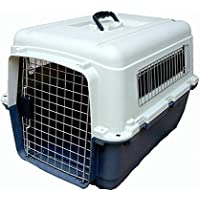 PSK Plastic Flight Cage Iata Approved for Pets 24 Inch (Blue and White)