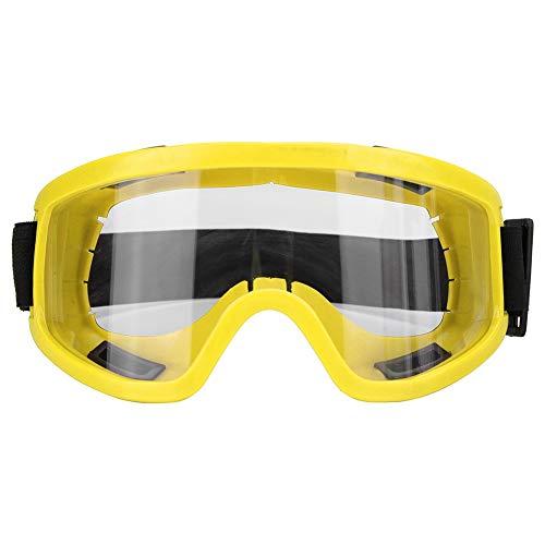 Woyisisi Schutzbrille Winddicht Anti Impact Sportbrille Ski Motorrad Augenschutz(03) (Gelbe Snowboard-schutzbrillen)