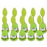 CRIVERS Infuser Tea & Tea Strainer innovativo, Diffusore Giallo Di Silicone Submarine Di Filtro Di Tè (10pc, forma foglia verde allentat)