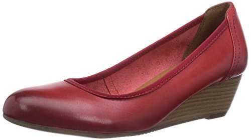 Tamaris 22320, Decolleté chiuse donna, Rosso (Rot (Chili 533)), 38