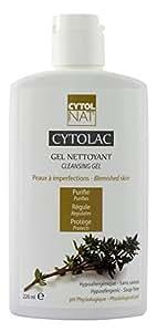 Cytolac Gel Nettoyant Visage pour peaux à imperfections - Hypoallergénique et sans savon - pH physiologique