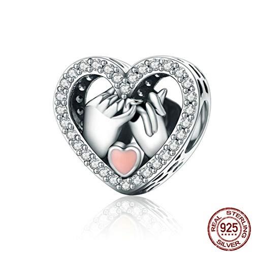 en für Armbänder, echte 925 Sterling Silber Herz Liebe Hohlkorn fit für Pandora Armband billig,Agreement ()