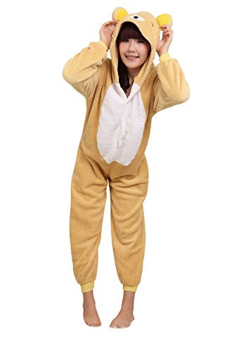 MOLLY KIGURUMI PIJAMAS TRAJE DISFRAZ ANIMAL ADULTO ANIMAL PYJAMAS COSPLAY HOMEWEAR OSO AMARILLO M
