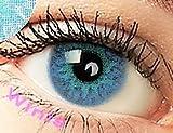 freshtone freshtone farbige kontaktlinsen monatslinsen blau hellblau ft-13bb Farbige Kontaktlinsen 3 Monatslinsen blau hellblau Brillant Blue Gute Deckkraft ohne Stärke mit Aufbewahrungsbehälter