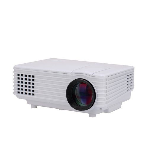 Vision VP-606 Portable LED Projector & LED Lamp 50000 Hrs. 1800 Lumens, HDMI, USB, VGA, SD Card Slot, Educational Projector