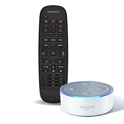 amazon-echo-dot-2nd-generation-white-logitech-harmony-companion-remote-and-hub-bundle