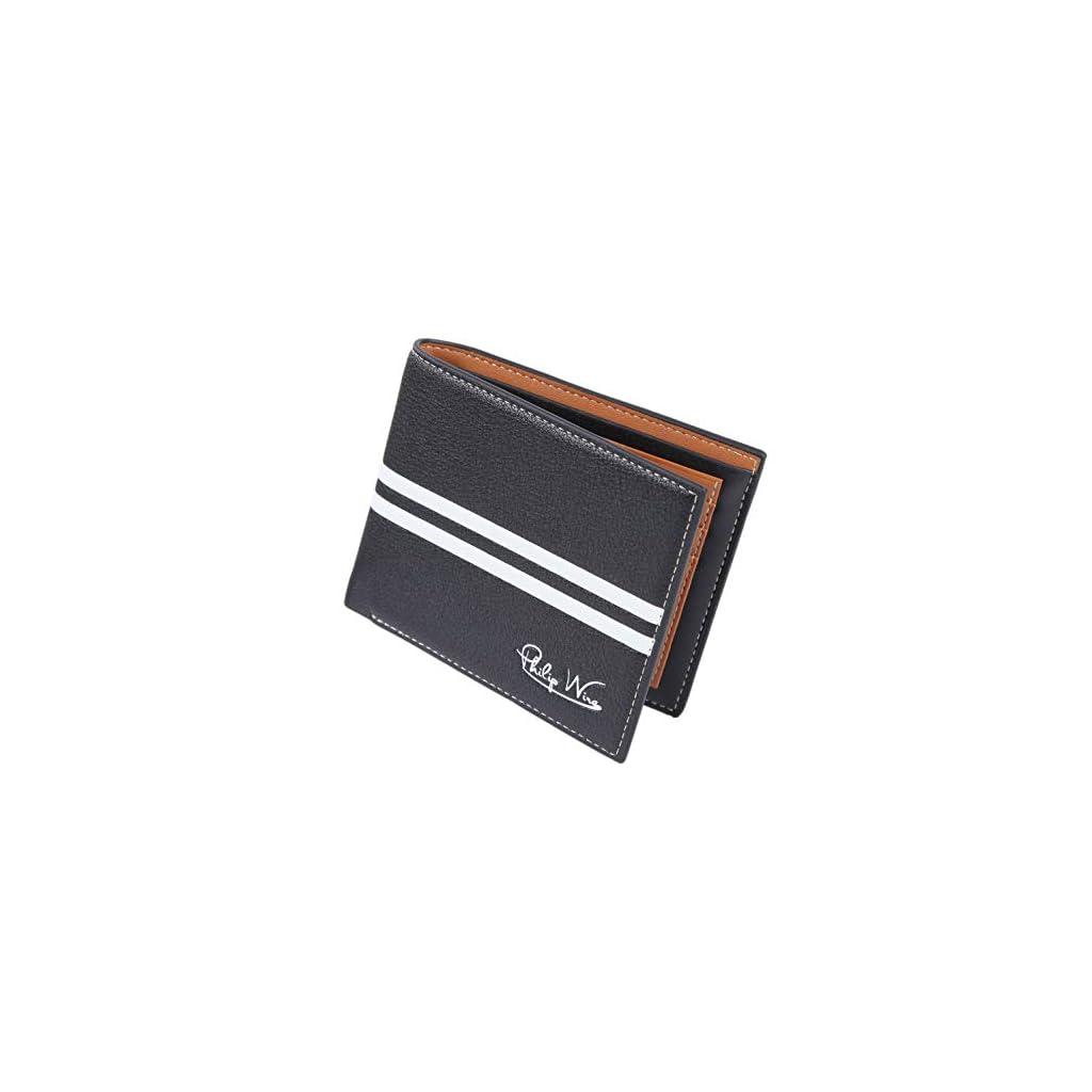 Wallet Sottile Portafoglio Uomo PHILIP WIRE Di Alta Qualit/à Porta Carte Credito Portafoglio Uomo Pelle Porta Tessere