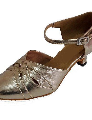 ShangYi Chaussures de danse ( Or ) - Personnalisables - Talon Personnalisé - Cuir - Latine / Moderne / Salsa Gold