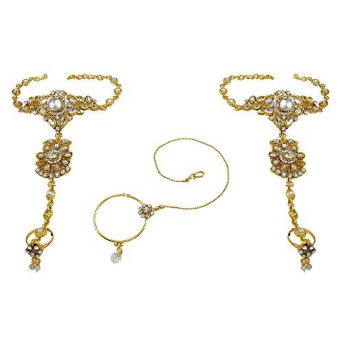 Banithani Collier De Mariée Mis Bollywood Mariage Indien Traditionnel Cadeau De Bijoux Ethniques Pour Elle or