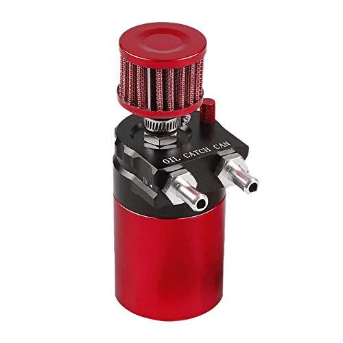 Nrpfell Schallwand Universal Aluminium ?l Fangen Krug Wassertank 300 ml mit Belüftungs Filter Schwarz + Rot Aluminium-krug