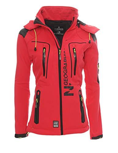 Geographical Norway Damen Softshell Funktions Outdoor Regen Jacke Sport [GeNo-20-Corail-Gr.S]