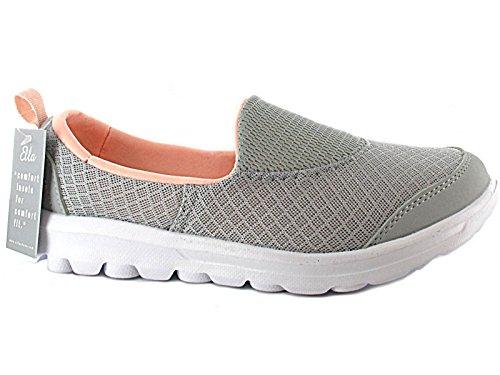 Foster Footwear , Baskets mode pour femme Silver/Lt Orange