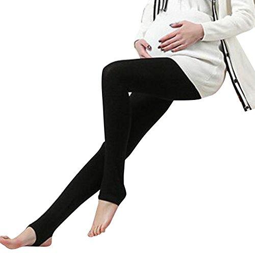hibote Womens Maternité Long Leggings Plus Size Noir
