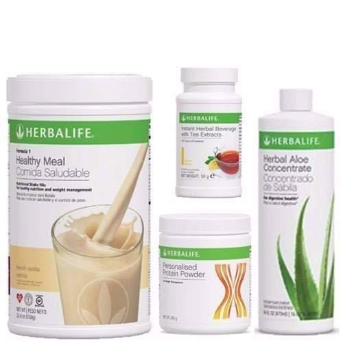 Programa completo herbalife compuesto por batido vainilla formula 1, bebida aloe vera sabor...