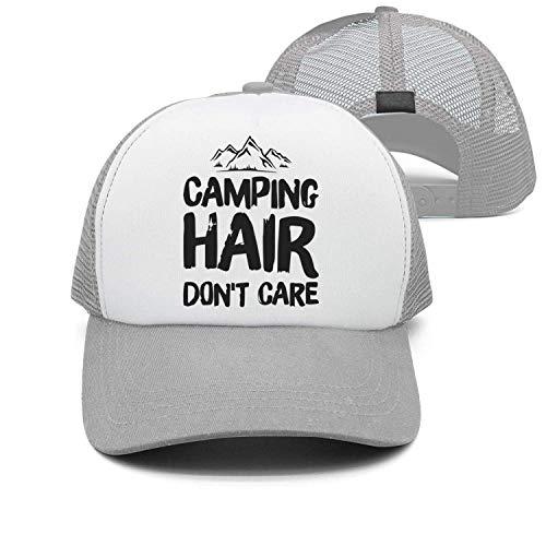 deyhfef Camping Hair Don't Care Unisex Adult Adjustable Trucker Dad Huts ()