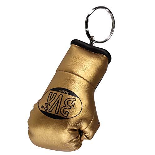 BAY® Mini Boxhandschuhe Schlüsselanhänger Miniboxhandschuhe Schlüssel Anhänger Deko Geschenk Boxen Box Handschuhe (Gold)