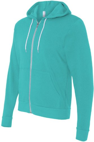 Bella+Canvas: Unisex Poly-Cotton Full Zip Hoodie 3739 Teal