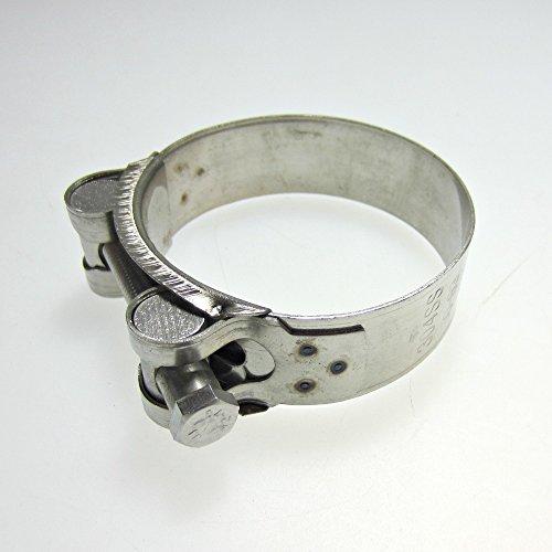 Collier d'échappement de moto en acier inoxydable 60-63mm