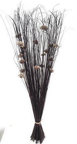 Manojo de vainas secas y artificiales, color marrón chocolate marrón, 95 cm de alto, listo para un jarrón