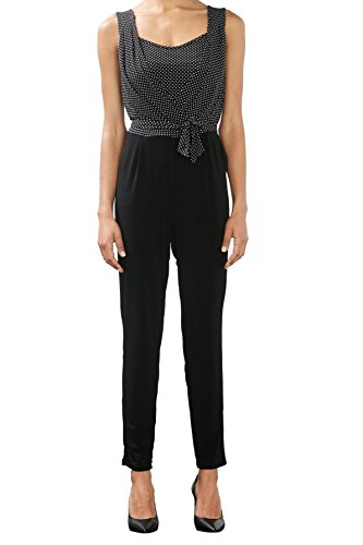 ESPRIT Collection Damen Jumpsuits, Schwarz (Black 2 002)