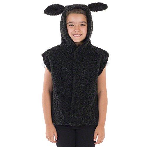 Charlie Crow Schwarzes Lamm Kostüm für Kinder. 3-8 - Kid Ziege Kostüm