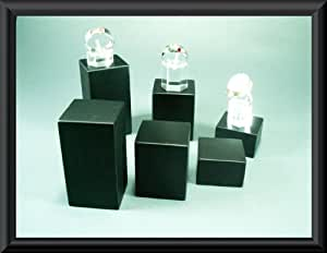square chain jewelery set ring Presentation jewelry stair , wood exhibition 6 presentation cube blocks offer landing podium black, 6teiliges cubes wooden bracelet stand x display by Mpyramid